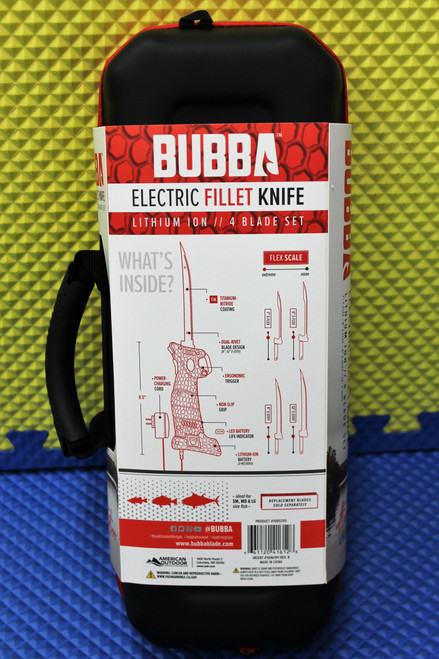 Bubba Electric Fillet Knife Lithium Ion 4 Blade Set With Spare Battery 1095705