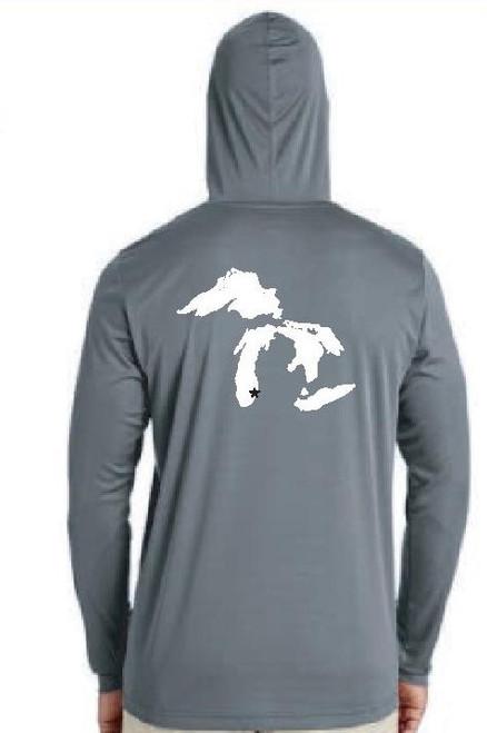 Long Sleeve Logo Hoodie Team 365 Graphite