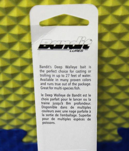 Bandit Walleye Deep Crankbait Lure BDTWBD-Series CHOOSE YOUR COLOR!