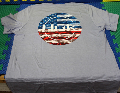 HUK KC Made For Fishing Tee H1000318-424 Dusk Blue HTR CHOOSE YOUR SIZE!
