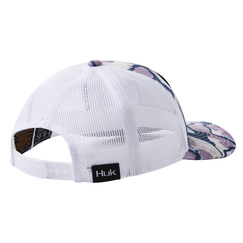 HUK Huk'd Up Lo Pro Current Camo Hat- Current Ocean Tally One Size Fits Most H3000264-975