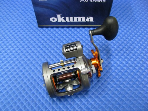 Okuma Cold Water HI Speed Line Counter Trolling Reel CW 303DS