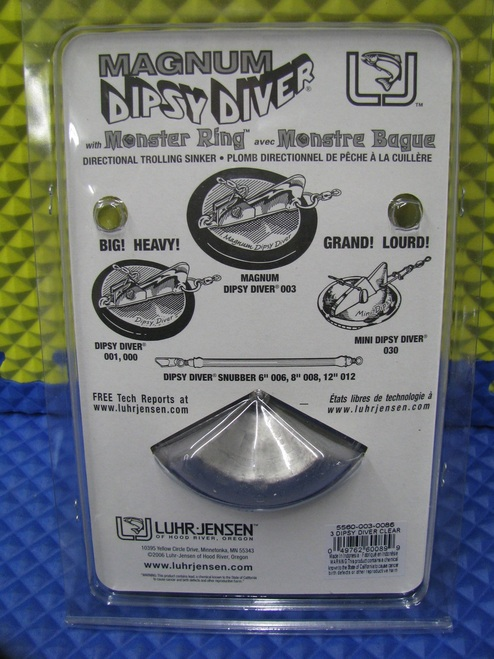 "Luhr-Jensen Dipsy Divers Size 3 With ""O"" Ring (5560-003 Series)"