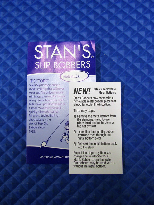 Stan's Slip Bobbers With Removable Metal Bottom Size 50 CHOOSE YOUR COLOR!!!