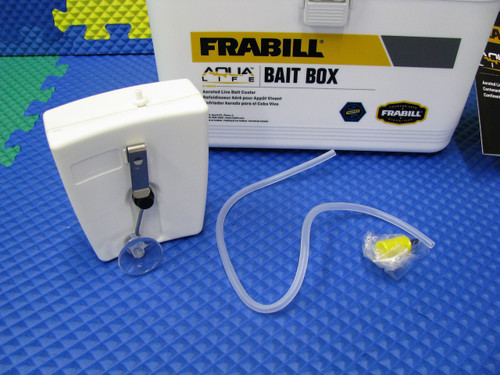 Frabill Aqua Life Bait Box Aerated Live Bait Box White & Yellow Model 14042