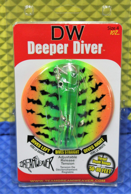 Dream Weaver Deeper Diver 107 Fire Tiger Size 4