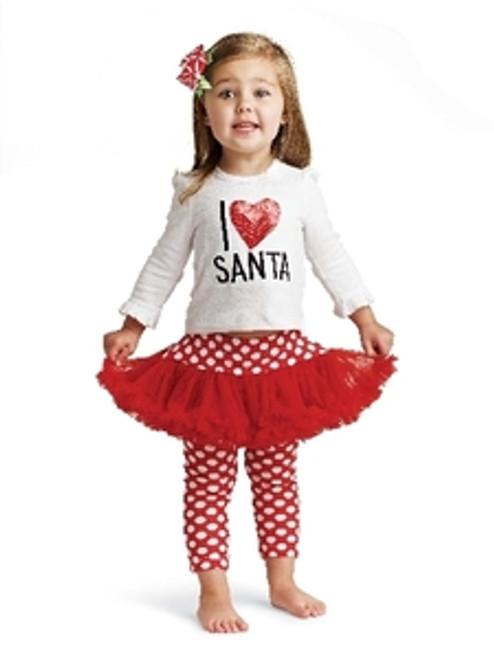 Mud Pie I LOVE SANTA PLAYSET Christmas Holiday TUTU 0-6M,12-18M, 2-3T