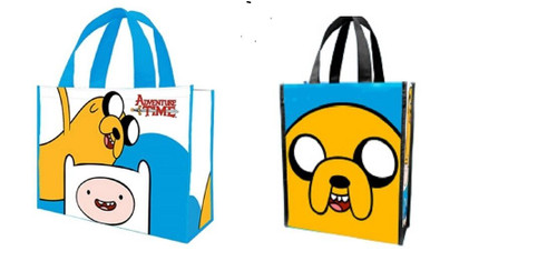 New ADVENTURE TIME  2  Recyled Shopper Totes Bags 2 Designs Small & Large gift