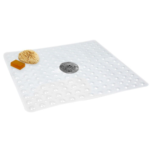"New Non Slip Mat NO SUCTION CUPS for Refinished Reglazed Shower CLEAR 24"" x 24"""