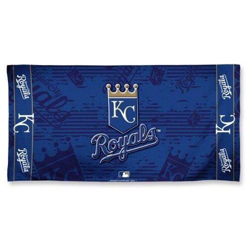 "New MLB Beach Bath Towel Licensed KANSAS CITY ROYALS Blue 30"" x 60"" gift Decor"