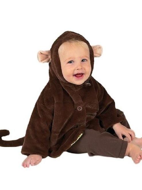 Bearington Baby White GIGGLES  MONKEY COAT w/  EARS & TAIL 6-12 Mos Brown gift