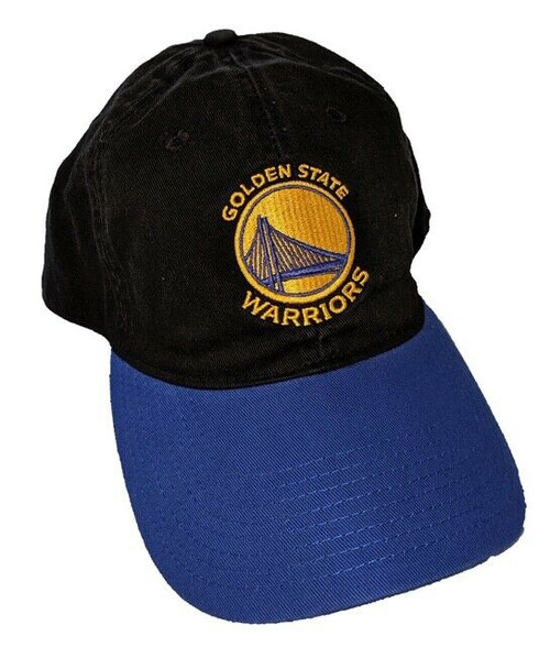 New NBA GS WARRIORS  Strap back Dad Hat Royal Blue Gold Black Licensed Adjusts