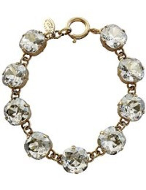 New Catherine Popesco La Vie Parisienne Gold Big  Swarovski Bracelet Shade 1696G