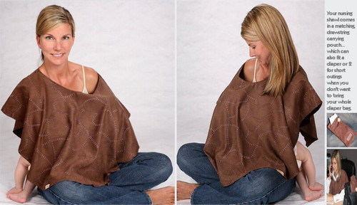 NEW L'oved Loved Baby 4-in-1 Nursing Shawl Hooter Cover BROWN  nice gift