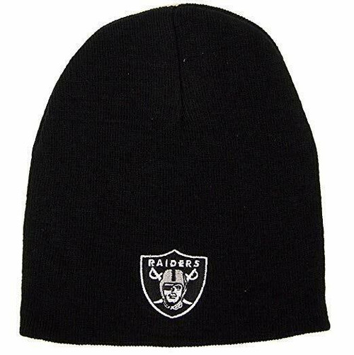 New NFL RAIDERS  Knit Hat Beanie Black Licensed Holiday gift Lightweight
