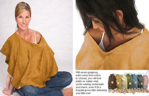 NEW L'oved Loved Baby 4-in-1 Nursing Shawl Hooter Cover CARAMEL Brown gift