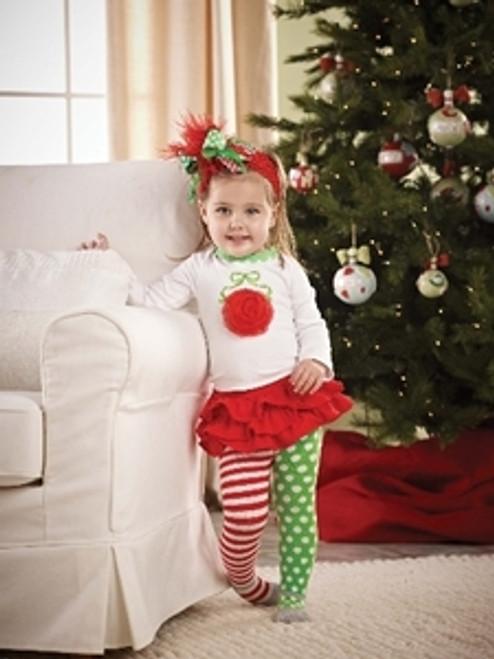 Mud Pie Christmas  Holiday Ornament Skirt Set 0-6M,12-18M,2-3T