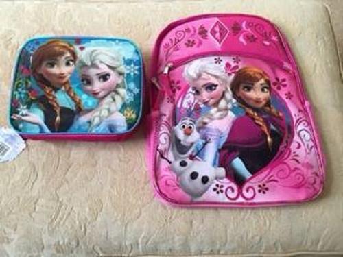 New Disney FROZEN Backpack & Lunch Tote Bag  Elsa Anna  Olaf School Girl Gift