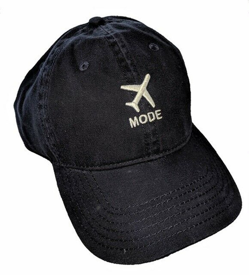 New DAD HAT Baseball Cap Adjustable Adult Embroidered AIRPLANE MODE Navy Blue