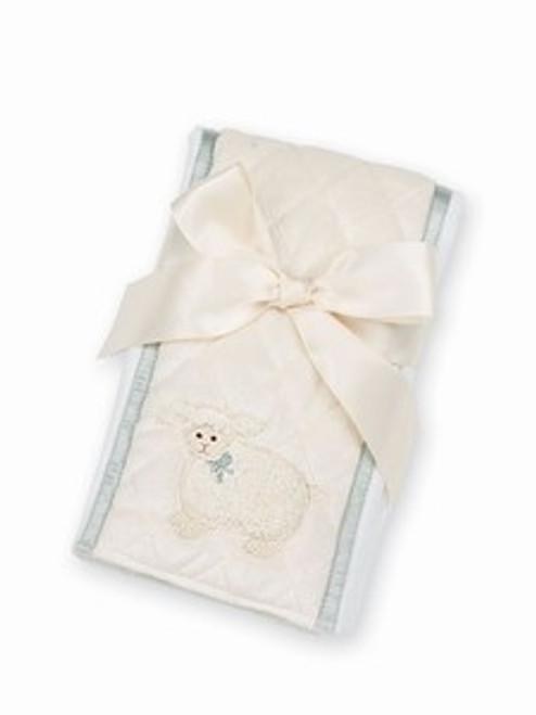 Bearington Baby LAMBY LAMB Burp Cloth Cream unisex baby  gift