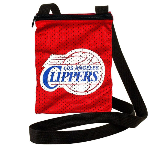New Jersey Game Day Jersey Pouch Purse NBA Licensed LOS ANGELES CLIPPERS Red