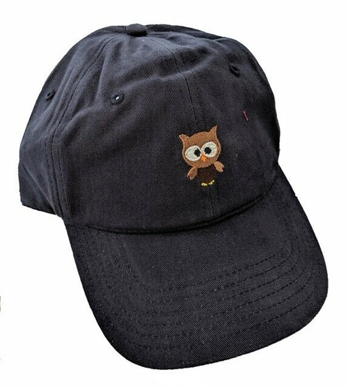 New DAD HAT Baseball Cap Adjustable Adult Embroidered OWL Navy Blue Unisex gift