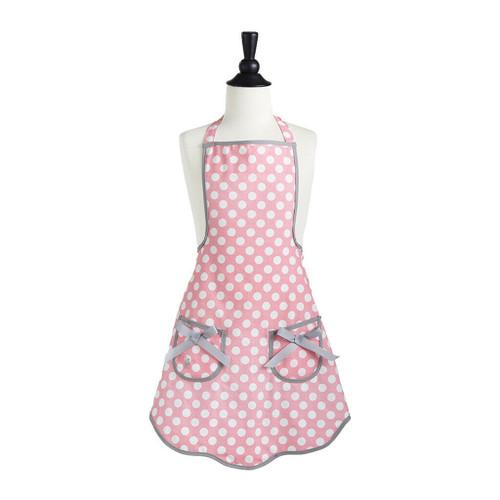 New Jessie Steele Child Kid Girl ROSY PINK POLKA DOT Ava Apron gift One Size