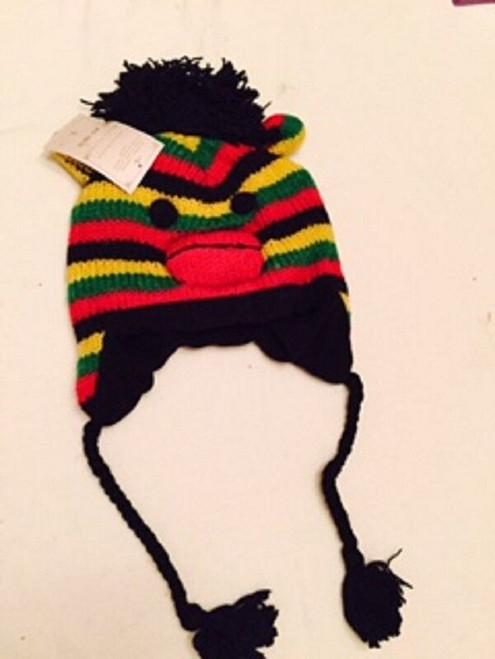 New Animal Face RASTA MONKEY PUNK  Hat Beanie Winter Ski Cap ADULT Gift One size