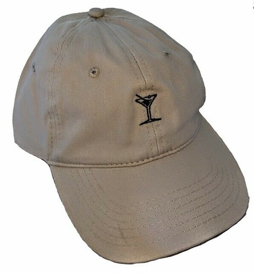 New DAD HAT Baseball Cap Adjustable Adult Teen Embroidered Unisex MARTINI Beige