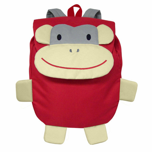 New Green Sprouts Child  Backpack RED MONKEY Small School Toy gift BPA Free