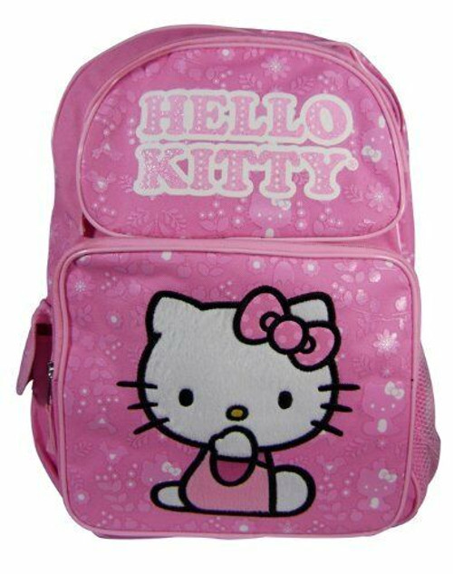 New Sanrio HELLO KITTY Pink Bag School Work Book Large Backpack cute KID gift