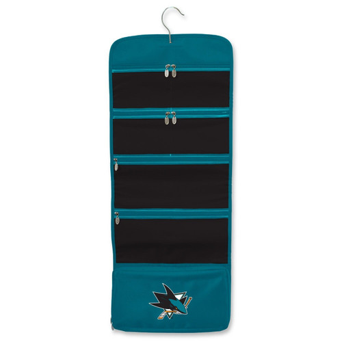 New NHL Hanging Organizer Toiletry Jewelry Cosmetic SAN JOSE SHARKS Licensed