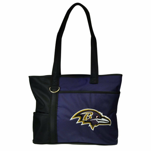 New Carryall Tote Purse Bag NFL Licensed BALTIMORE RAVENS Embroidered Logo gift
