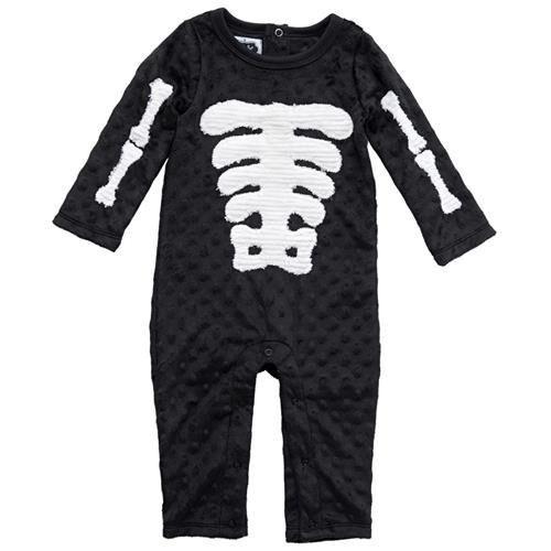 New Mud Pie SKELETON Black One-piece Halloween Costume 9-12 months Girl Boy Baby