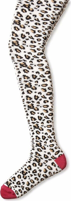 New Country Kids White  SNOW LEOPARD TIGHTS 9-11 years Gift Animal Print Tween