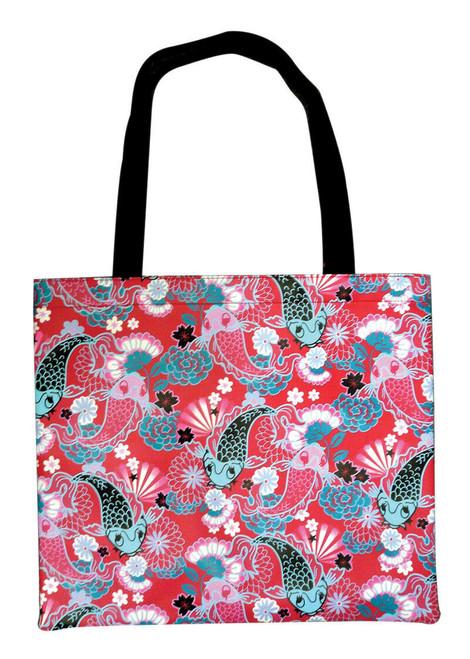 New Fluff  KOI Tote Bag Book  School Work Red Pink Anime Kawaii gift pleather