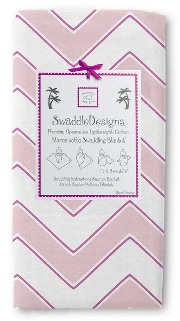 New SwaddleDesigns Marquisette  Swaddling Blanket CHEVRON PINK  Baby Girl gift