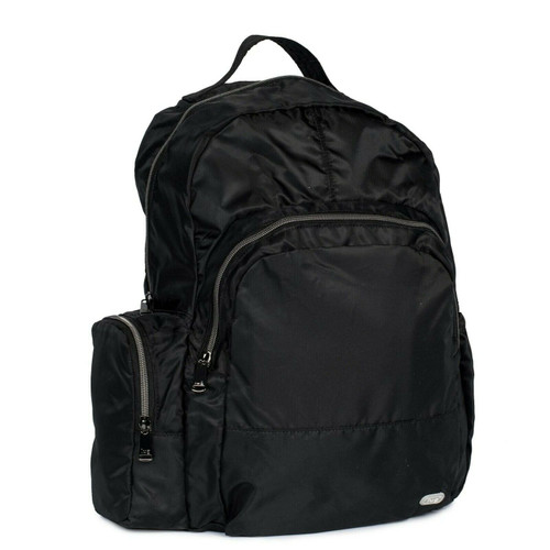 New Lug Travel Echo PACKABLE Backpack School Work Gym MIDNIGHT BLACK Lightweight