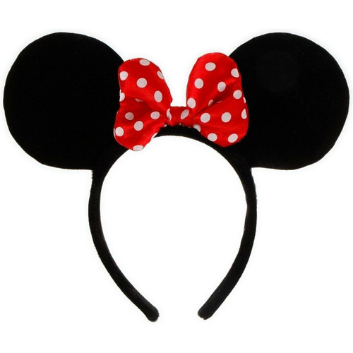 New Elope Licensed Disney MINNIE MOUSE Ears Headband Costume Adult Kids One Size