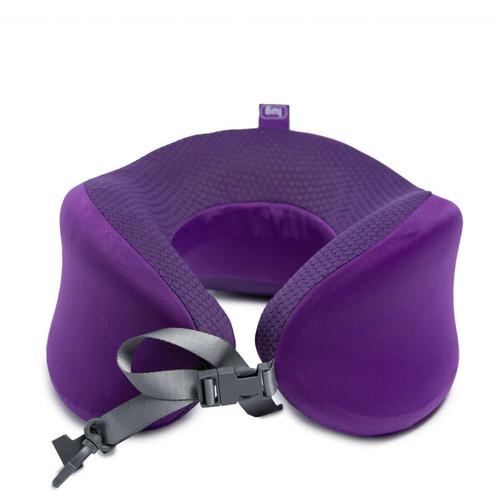New Lug Travel SNUZ WRAP Neck Pillow Adjustable Washable CONCORD PURPLE Violet