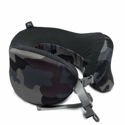 New Lug Travel SNUZ WRAP Neck Pillow Adjustable Washable CAMO BLACK Gift