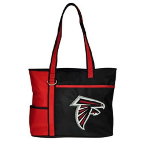 New Carryall Tote Purse Bag NFL Licensed ATLANTA FALCONS Embroidered Logo gift