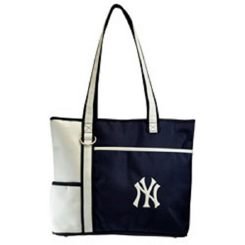 New MLB Carryall Gametime Tote Bag Purse Licensed NEW YORK YANKEES Embroidered