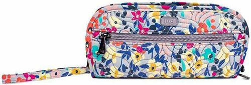 New Lug Travel FLIPPER Jewelry Clutch Organizer Case Bag WILDFLOWER MULTI gift