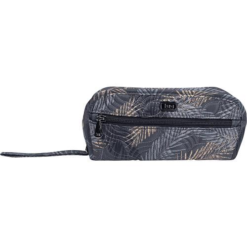 New Lug Travel FLIPPER Jewelry Clutch Organizer Case Bag TROPICAL FOG Grey Gray
