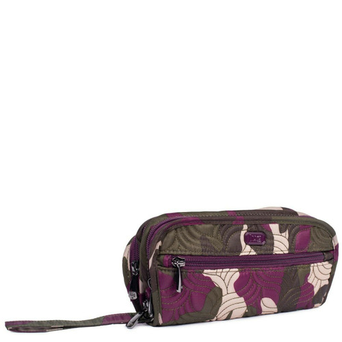 New Lug Travel FLIPPER Jewelry Clutch Organizer Case Bag CAMO BERRY Pink Purple