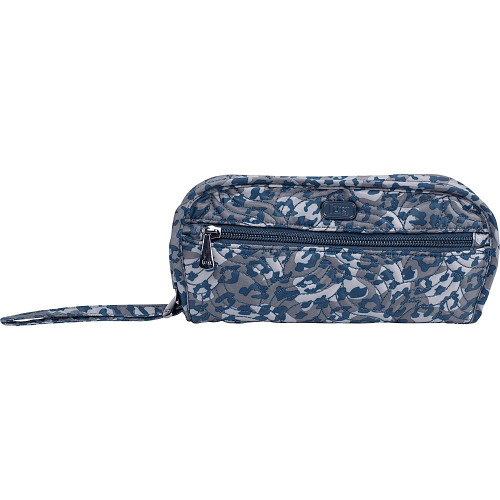 New Lug Travel FLIPPER Jewelry Clutch Organizer Case Bag LEOPARD NAVY Blue gift