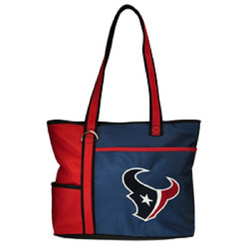 New Carryall Tote Purse Bag NFL Licensed HOUSTON TEXANS Embroidered Logo gift