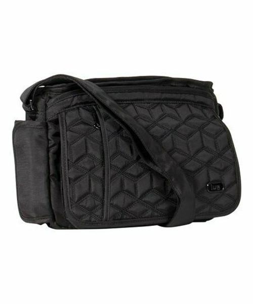 New Lug Travel WINGS &  RFID protection Crossbody BLACK Pockets Galore Gift