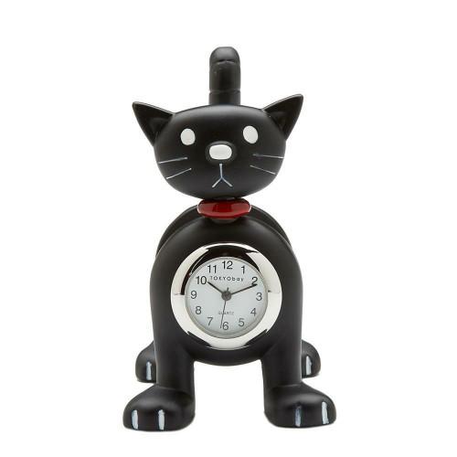 NEW TOKYObay Tokibot Desk Clock Home Decor BLACK CAT Springy Mother's Day gift